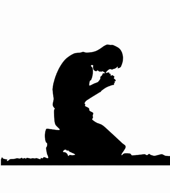 kneeling in prayer